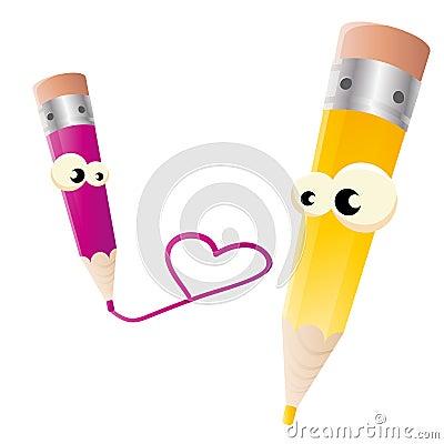 Crayon lecteur dans l amour