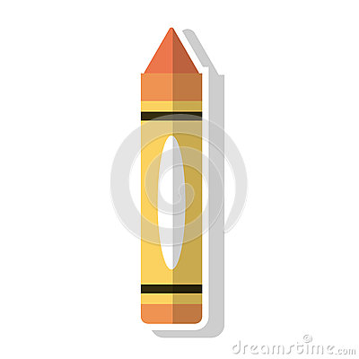 Crayon object and school tool design Vector Illustration