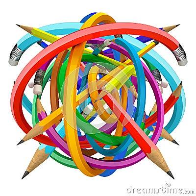 Free Crayons Ball Royalty Free Stock Photos - 21791558