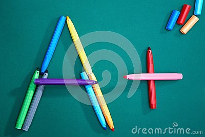 Crayons on board