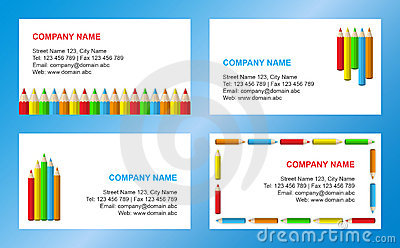 Crayons business card template