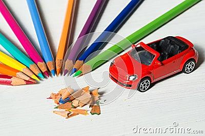 petite voiture en bois de jouet photo stock image 45249713 - Copeaux De Bois Colors