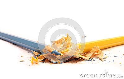 sharpened a color des crayons et des copeaux en bois photographie stock libre de droits image 34583427 - Copeaux De Bois Colors