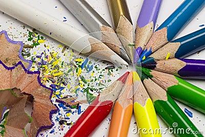 copeaux en bois colors des crayons colors photo stock image 49345873 - Copeaux De Bois Colors