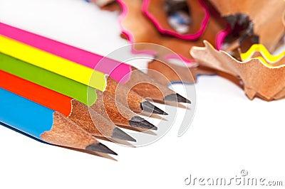 crayons colors et copeaux en bois images libres de droits image 11258689 - Copeaux De Bois Colors