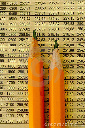 Crayons et numéros