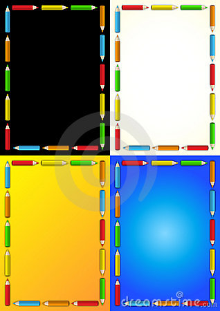 Crayons frame business template