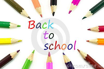 Crayons pour de nouveau à l école