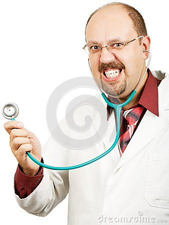 Crazy bald-headed Doctor