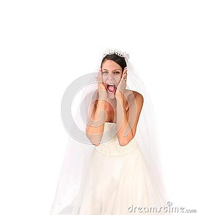 Free Crazy Bride: Bridezilla On Stock Photography - 3068332