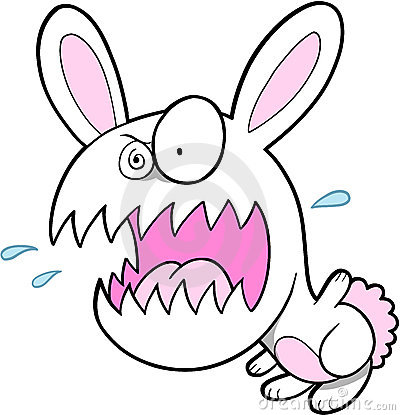 Crazy Bunny Rabbit Stock Images - Image: 4363614
