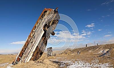 Crazy Buried Bus