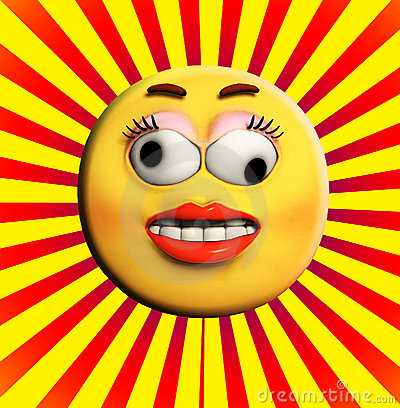 Crazy Cartoon Face Royalty Free Stock Images - Image: 15268059