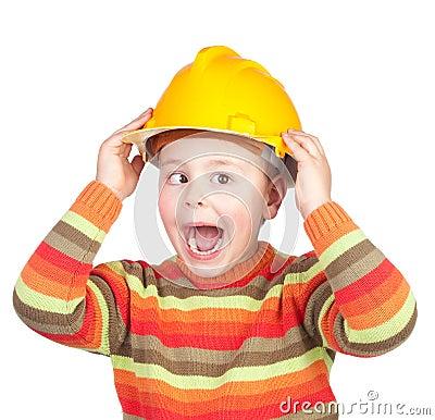 Crazy construction worker