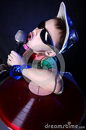 Crazy cool kid DJ