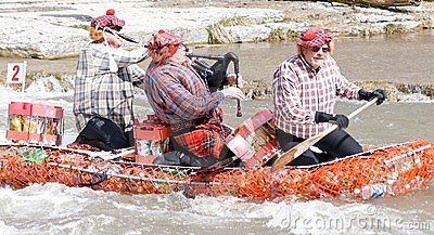 Crazy Craft River Race, Port Hope, March 31/2012 Editorial Photo