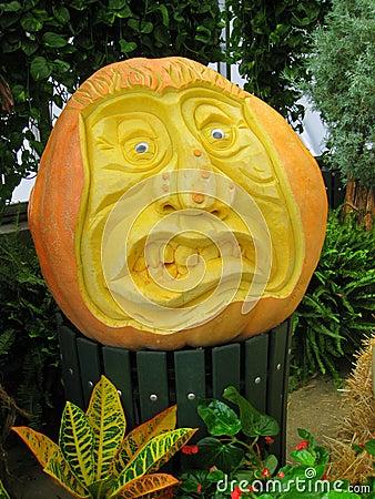 Crazy Face Pumpkin