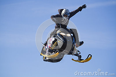 Crazy Flying sportsman Editorial Image