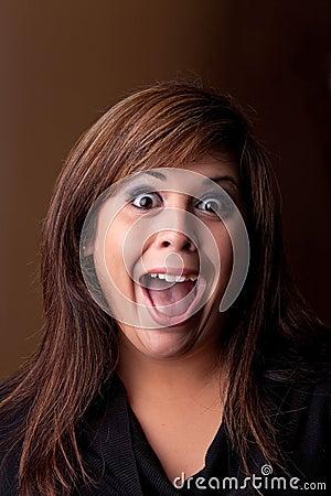 Free Crazy Girl Screaming Stock Image - 18570381