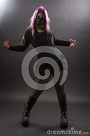 Crazy goth
