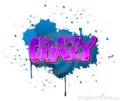 Crazy graffiti background