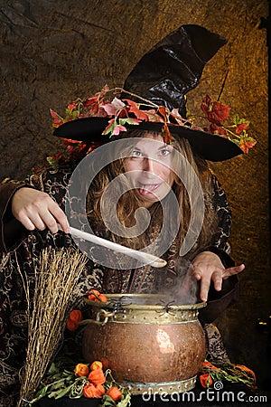 Crazy halloween witch