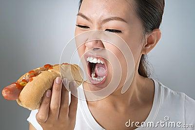 Crazy for hot-dog