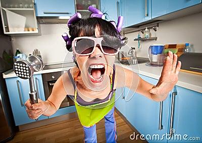 Crazy housewife