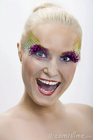 Crazy make-up