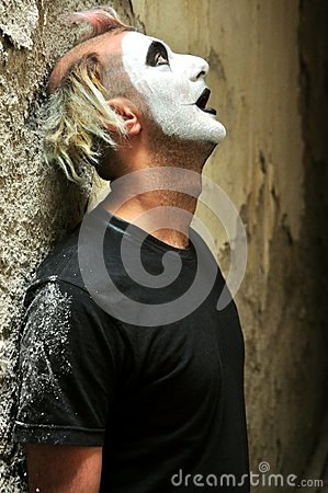 Free Crazy Man Closeup In A Madhouse In Italy Royalty Free Stock Image - 44505536