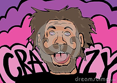 Crazy man Stock Photo