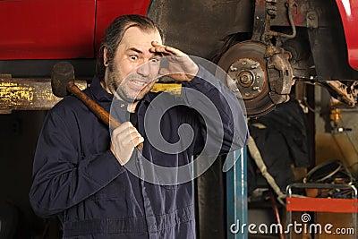 Crazy mechanic confused