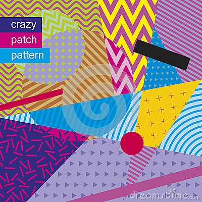 Free Crazy Patch Pattern 01 Stock Photography - 68587382