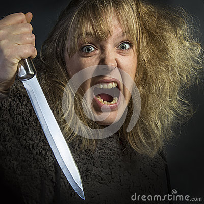 Crazy Psychotic Woman