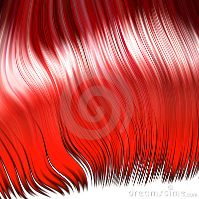 Crazy red wig