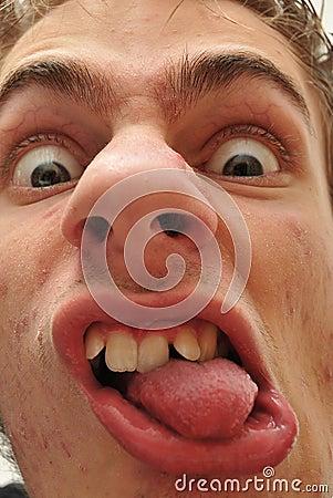 Crazy wacky ugly man