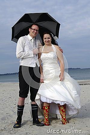 Crazy wedding at the beach