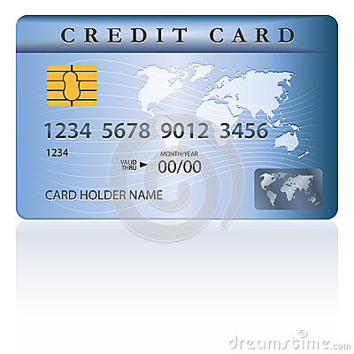 Crédito o diseño de tarjeta de débito