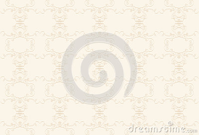 Cream background with beige pattern.