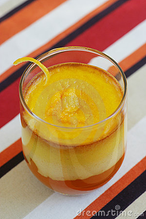 Cream of carrot and orange