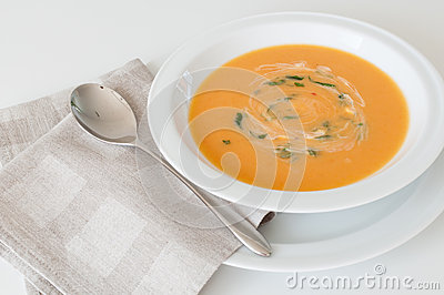 Cream carrot soup