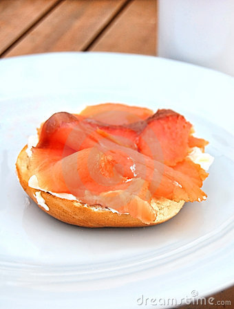 Cream Cheese Bagel and Smoked Salmon