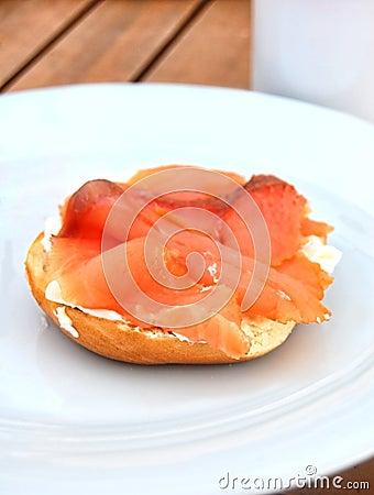 Cream Cheese Bagel and Smoked Salmon
