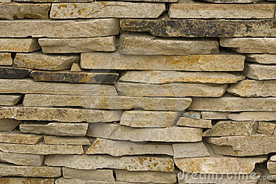 Cream colored Slate Stone Stacked