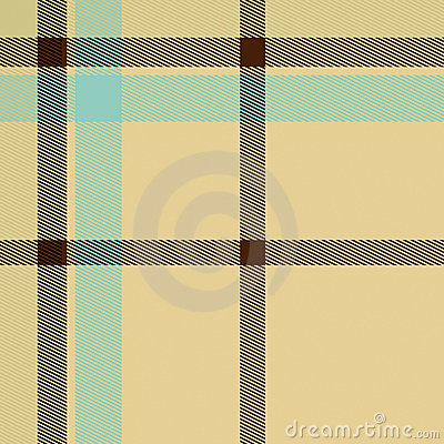 Cream Colored Tartan Seamless Pattern