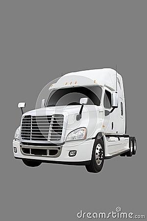 Cream colored Transport truck