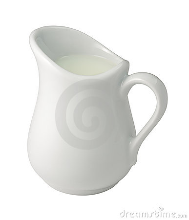 Cream (Creamer) (with clipping path)