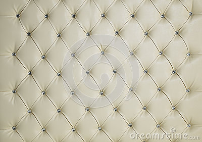 CREAM DIAMOND STUDDED PADDED LUXURY LEATHER BACKGROUND