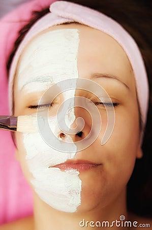 Cream half face