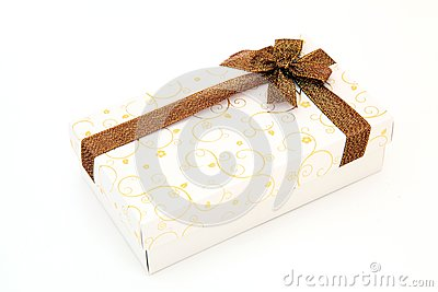Cream holiday gift box